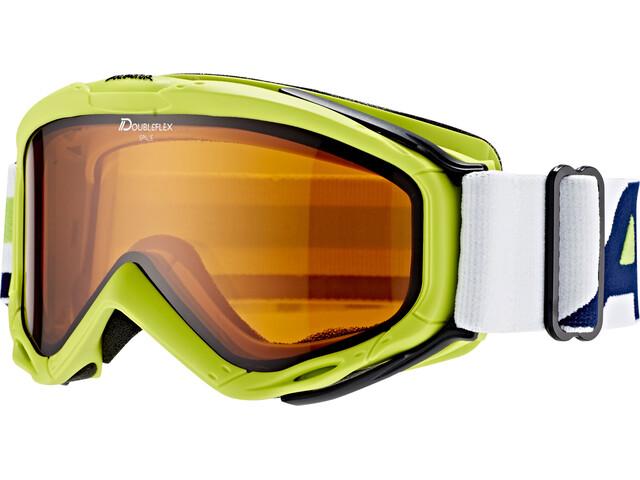 Alpina Spice Doubleflex S2 goggles Dames geel/groen